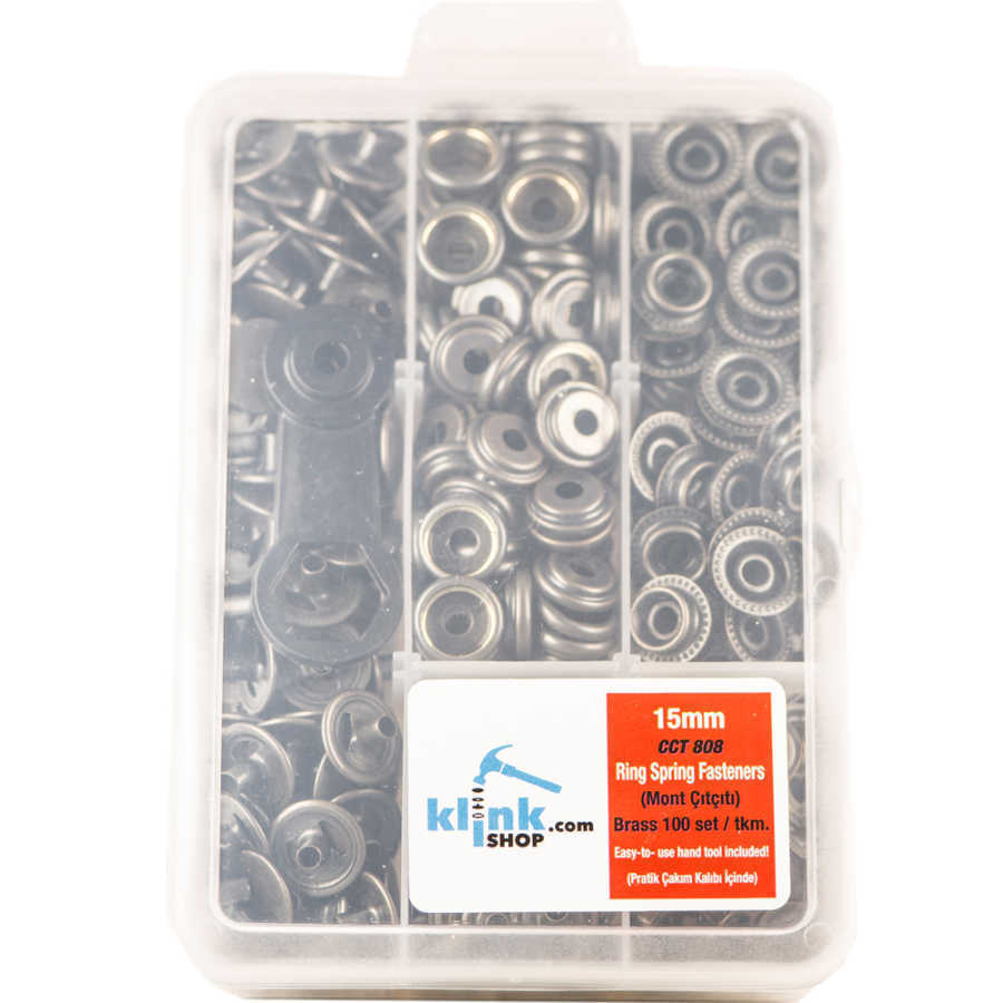 15 mm Kalın Kumaş Çıtçıt Kiti