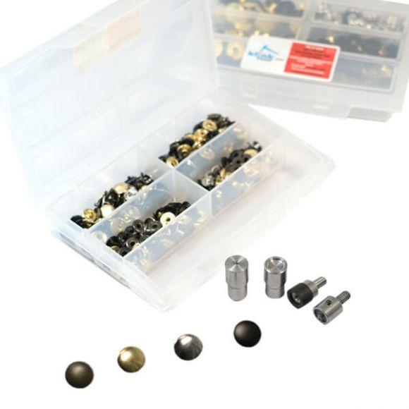 4 Metalik Renkli Metal Çıtçıt Kiti -10 mm