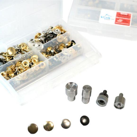 4 Metalik Renkli Metal Çıtçıt Kiti -12,5 mm