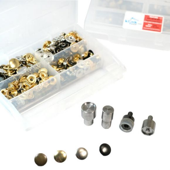 4 Metalik Renkli Metal Çıtçıt Kiti -15 mm