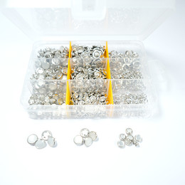 7,5 mm - 9,5 mm - 10,5 mm Karma Sedefli Çıtçıt - Aparatsız Yedek Paket - Thumbnail