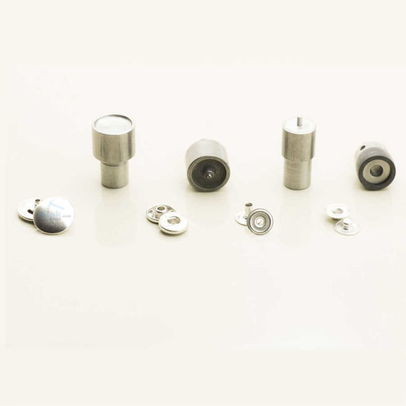 9,5 mm capped prong snap fastener die set