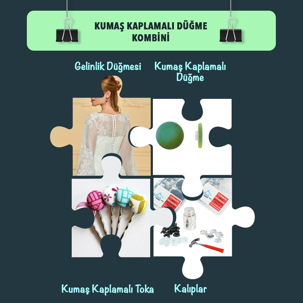 KUMAŞ KAPLAMALI DÜĞME YAPIMI /KİT