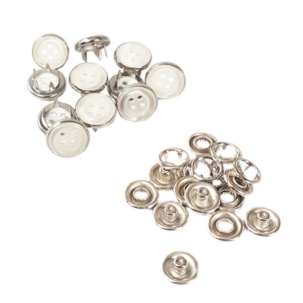 Button cap prong snap fasteners - 10,5 mm, without application tool