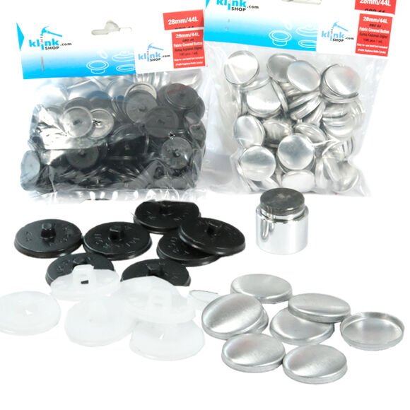 Button fabric covering kit - 28 mm (44 L)