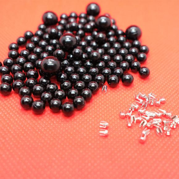 Siyah Çakma İnci Boncuk / Aparatsız Malzeme Paketi