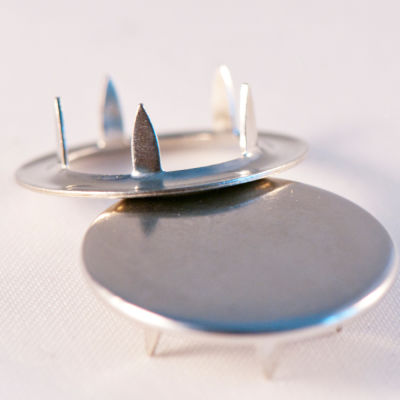 Capped prong snap fastener - 10,5 mm (without tool)