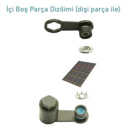 Capped prong snap fastener application kit - 10,5 mm - Thumbnail