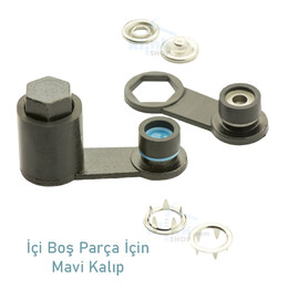 ​Capped prong snap fastener application kit - 10,5 mm - Thumbnail