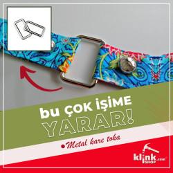 Dörtgen Çanta Sapı Tokası - Büyük - Thumbnail