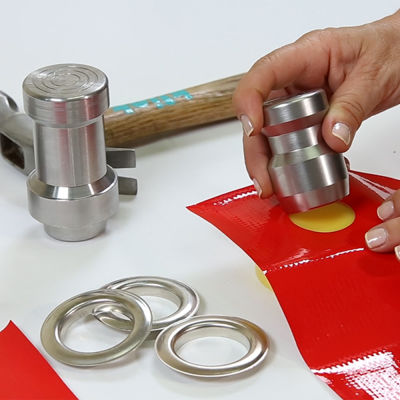Eyelet and Grommet hole punching tool (by hammering) - 28 mm