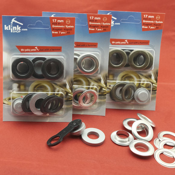 Eyelets and grommets easy application kit-17 mm