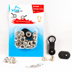 - Eyelets and grommets easy application kit-8,5 mm