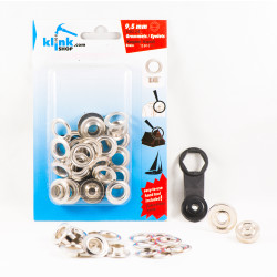 - Eyelets and grommets easy application kit-9,5 mm