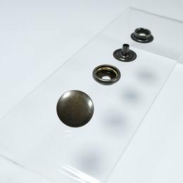 Heavy-Duty Ring Spring Coat Fastener Easy Application Kit – 15 mm - Thumbnail