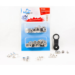 - Heavy-Duty Ring Spring Coat Fastener Easy Application Kit – 15 mm