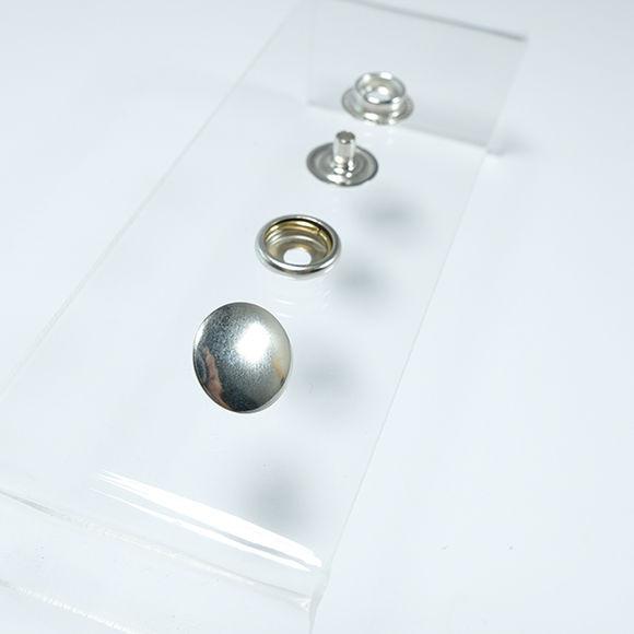 Heavy-Duty Ring Spring Coat Fastener Easy Application Kit – 15 mm