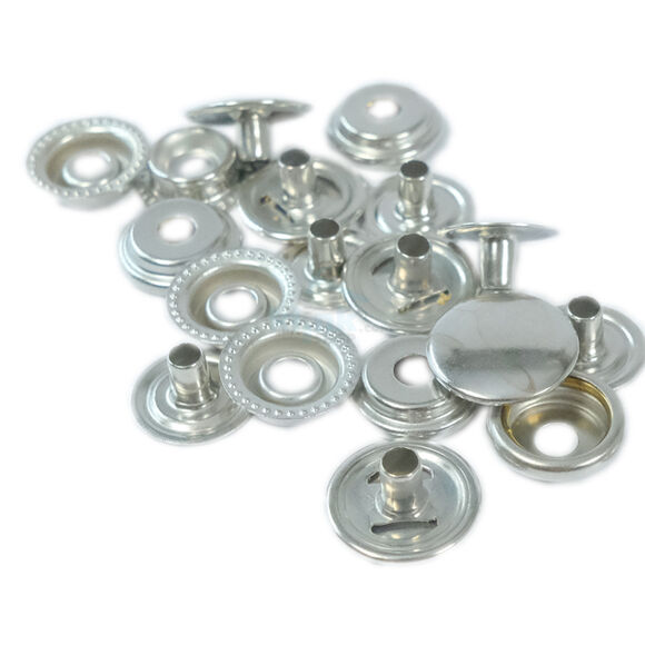 Heavy-Duty Ring Spring Coat Fastener (without tool) – 15 mm