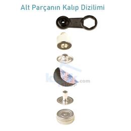 Heavy Duty S - Spring Coat Snap Fastener Easy Application Kit – 15 mm - Thumbnail