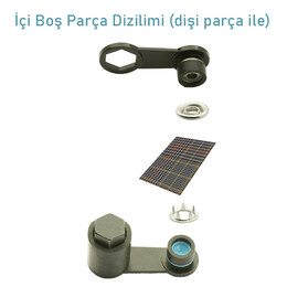 Delikli Çıtçıt Kiti -10,5 mm - Thumbnail