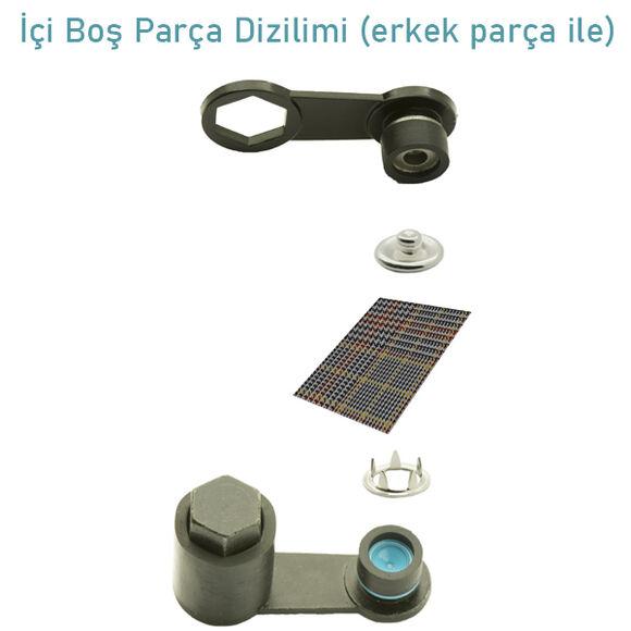 Delikli Çıtçıt Kiti -10,5 mm