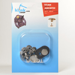 Jeans Buttons With Easy Application Kit-14 mm - Thumbnail