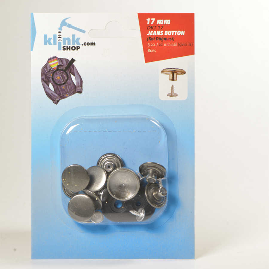 17 mm Kot Düğmesi Kiti