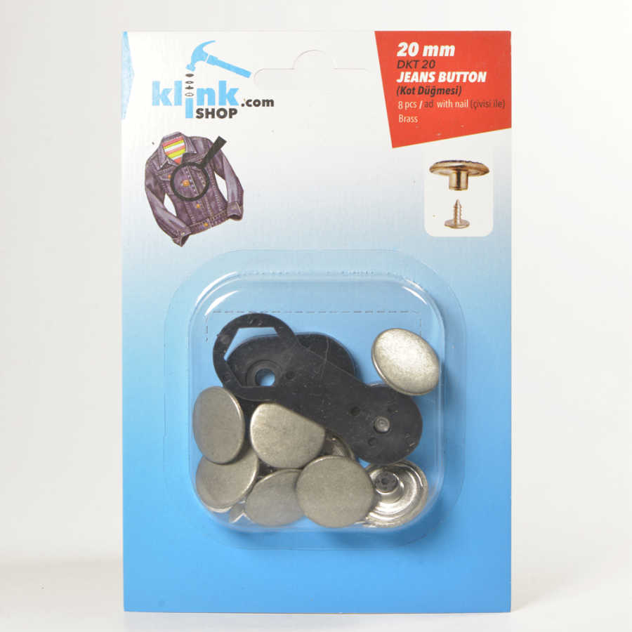 Jeans Buttons With Easy Application Kit - 20 mm