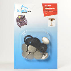 Jeans Buttons With Easy Application Kit - 20 mm - Thumbnail