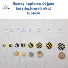 - Kumaş Kaplama Düğme (Aparatsız) Yedek Paket (1)