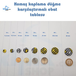 KlinkShop - Kumaş Kaplama Düğme (Aparatsız) Yedek Paket (1)