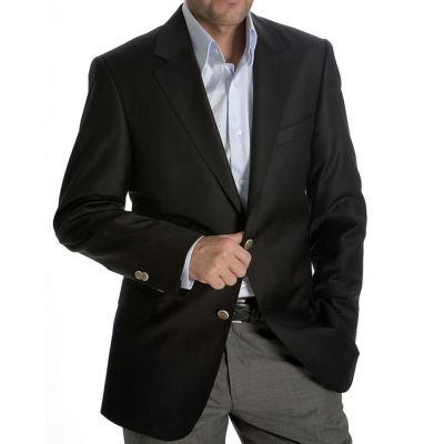 Metal sew-on blazer jacket button - Checkers design