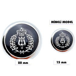 Metal sew-on blazer jacket button - Enamel design - Thumbnail