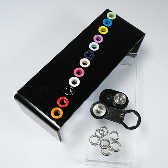 Mixed color eyelet kit