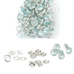 Mixed color pearl snap fastener - 9,5 mm - Thumbnail