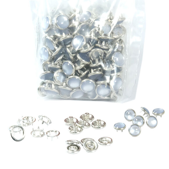 Mixed color pearl snap fastener - 9,5 mm