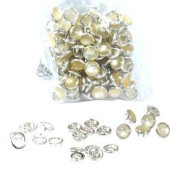 Mixed color pearl snap fastener - 9,5 mm - Thumbnail