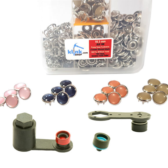 Mixed color pearl snap fasteners - 10,5 mm