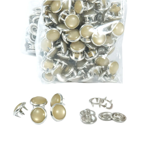 Mixed color pearl snap fasteners - 10,5 mm, without application tool
