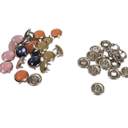 Mixed color pearl snap fasteners - 10,5 mm, without application tool - Thumbnail