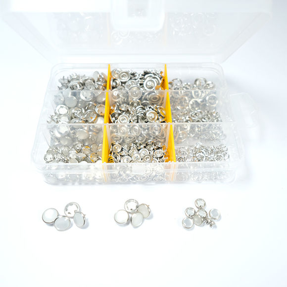 Mixed size pearl snap fastener - 7,5 mm / 9,5 mm / 10,5 mm