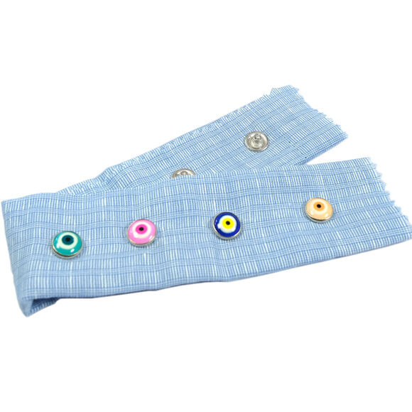 Nazar (Evil-eye) talisman patterned prong snap fasteners - 10,5 mm, Mixed package