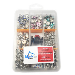 Nazar (Evil-eye) talisman patterned prong snap fasteners - 10,5 mm, Mixed package - Thumbnail