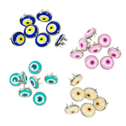 - Nazar (Evil-eye) talisman patterned prong snap fasteners - 10,5 mm, without tool