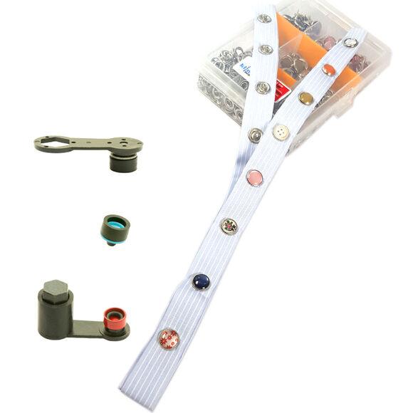 Özel Dizayn Sedefli Çıtçıtlar Karışık Paket /10,5 mm