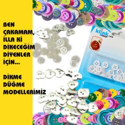 Polyester Gömlek Düğme Seti - Thumbnail