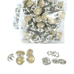 Renkli Sedefli Çıtçıtlar-10,5 mm - Aparatsız (kalıpsız) Yedek Paketler - Thumbnail
