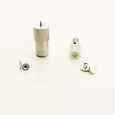 Rivet and burr fastening dies for press machines
