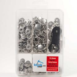 S - Spring Handbag, Shirt & Coat Snap Fastener Easy Application Kit – 12,5 mm - Thumbnail
