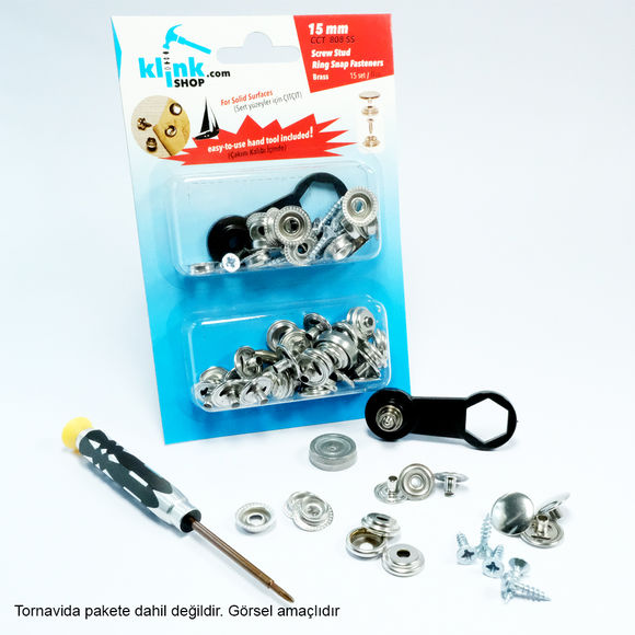Screw stud ring snap fasteners (for hard surfaces)